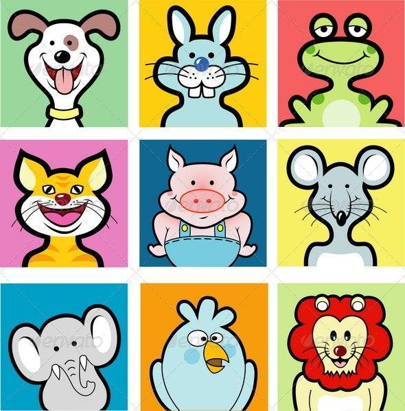 9 animal avatars - Animals Characters