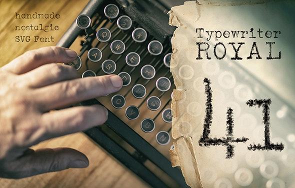 Unique handmade typewriter SVG Font typeface from 1941 - Bitmap & Pixel Decorative