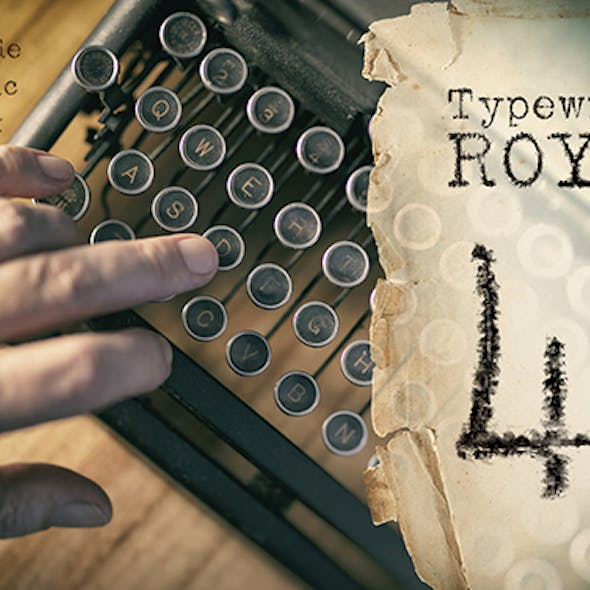 Unique handmade typewriter SVG Font typeface from 1941