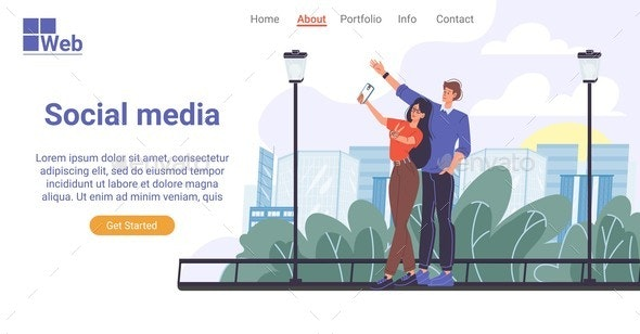 Communication in Social Media Landing Page Design - Technology Conceptual