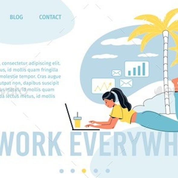 Freelance Office Everywhere Landing Page Design