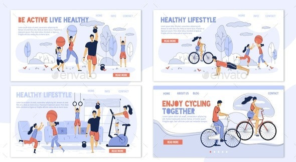 Happy Family. Healthy Lifestyle. - Sports/Activity Conceptual