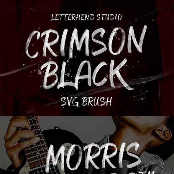 CRIMSON BLACK - SVG Brush Typeface