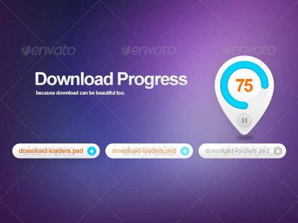Stylish Download Progress - Miscellaneous Graphics