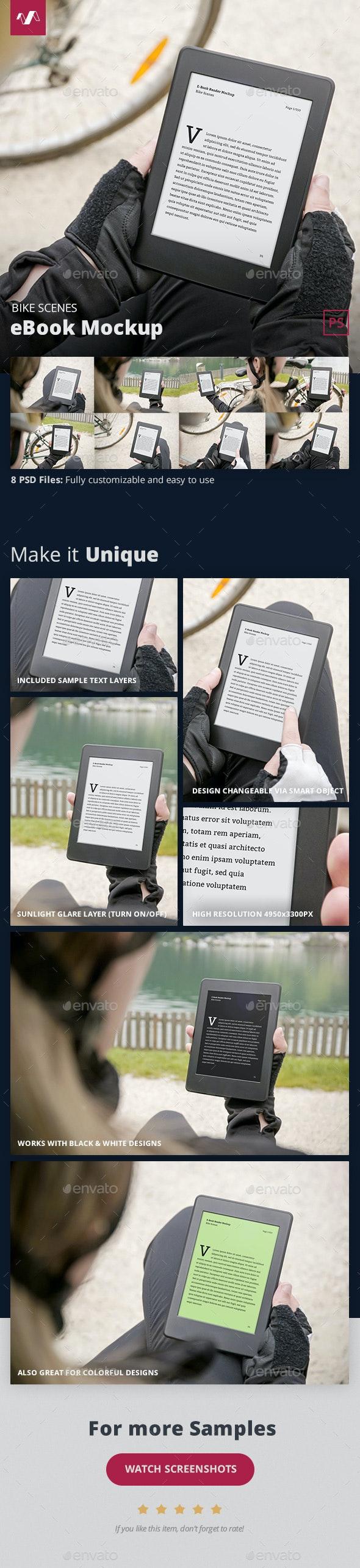 eBook Mockup Bike Scenes - Miscellaneous Displays