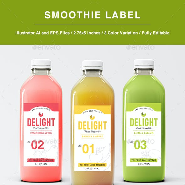 Smoothie Label Template