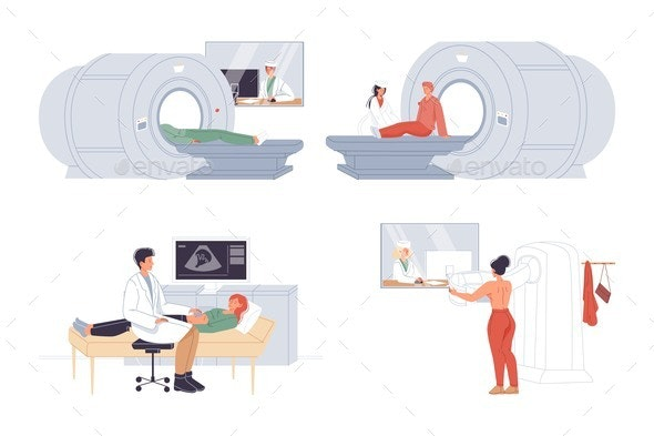 Patient Diagnostic on Medical Technology Equipment - Health/Medicine Conceptual