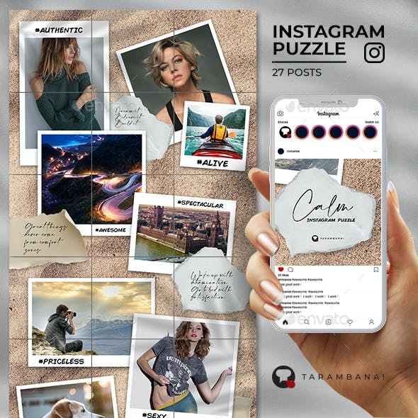 Calm - Instagram Puzzle Feed