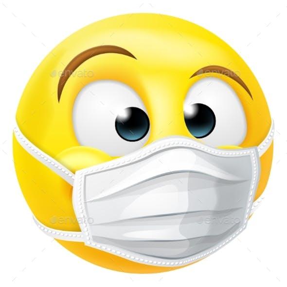 Emoticon Emoji PPE Medical Mask Face Icon