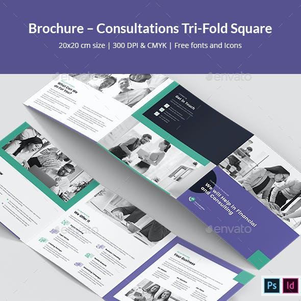 Brochure – Consultations Tri-Fold Square