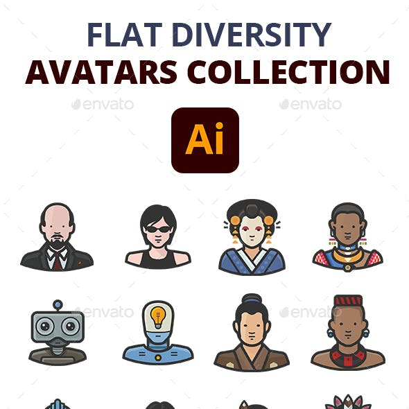 Flat Diversity Avatars Collection