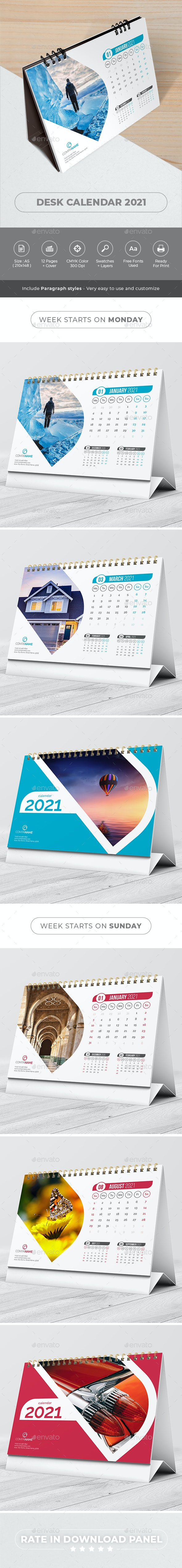 Desk Calendar 2021 - Calendars Stationery
