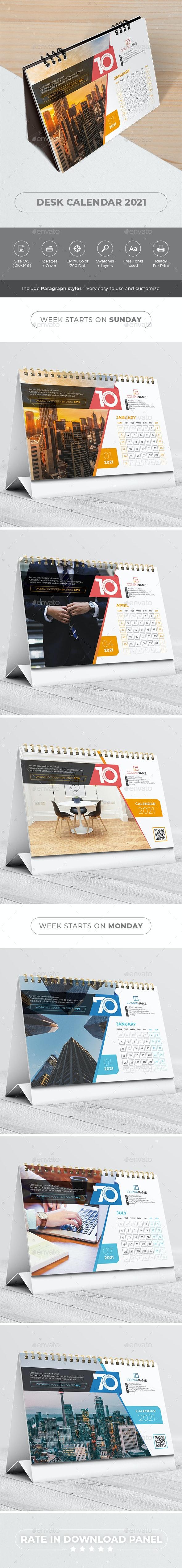 Desk Calendar 2021 - Calendars Stationery