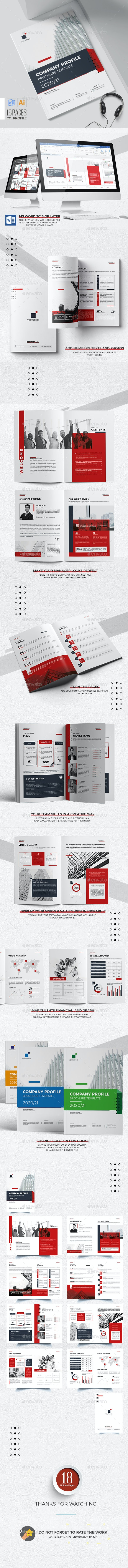 Company Profile Word Template - Corporate Brochures