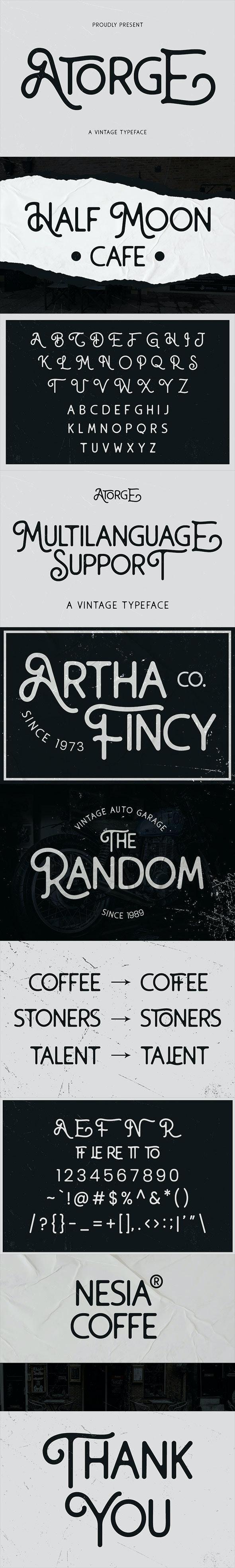 Atorge Vintage Typeface - Sans-Serif Fonts