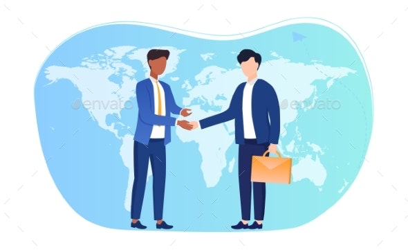 International Agreement Concept. - People Characters
