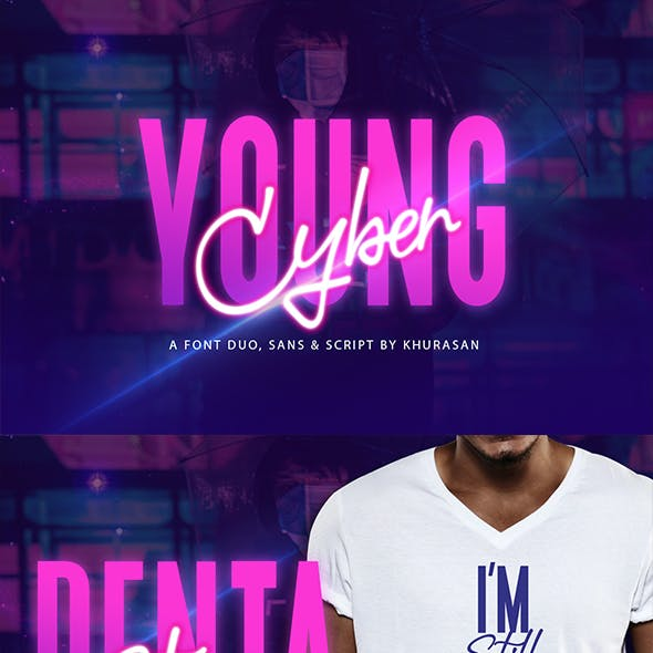 Young Cyber Font Duo
