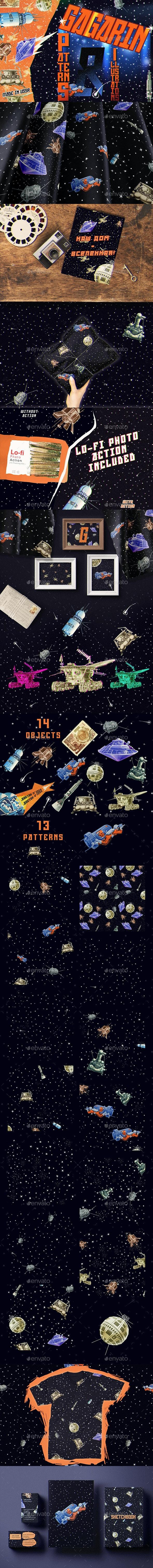 Gagarin - Patterns & Illustrations - Scenes Illustrations