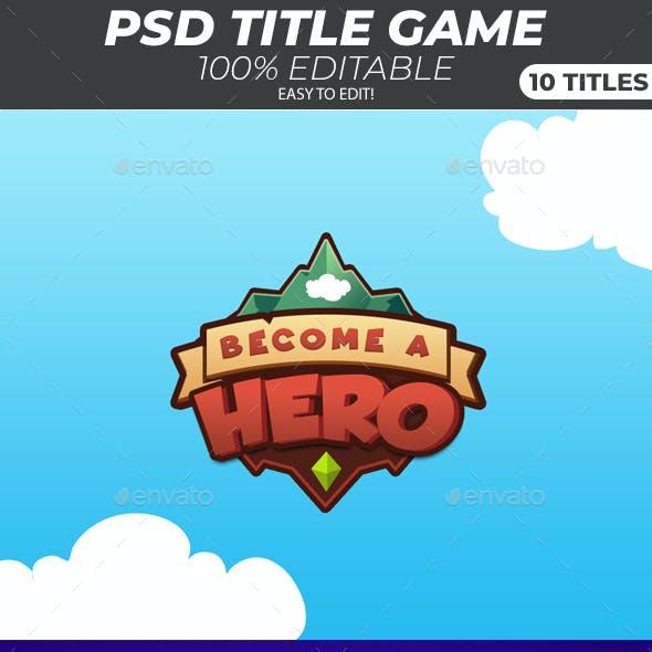 Game Title Logo - 10 Logos