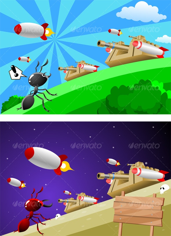 Ant Planet - Animals Characters