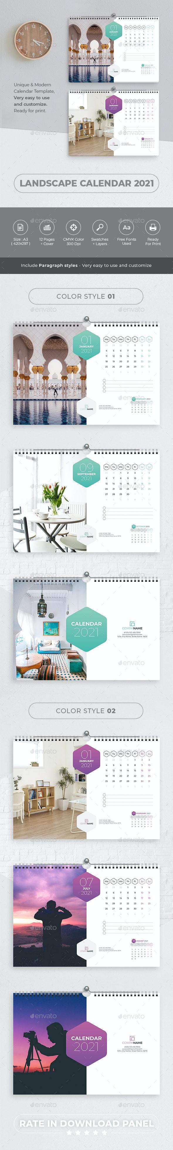 Landscape Calendar 2021 - Calendars Stationery