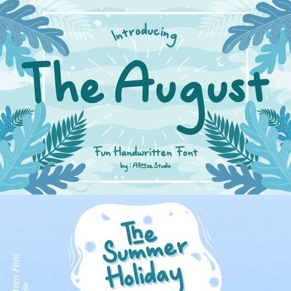 The August | Fun Handwritten Font