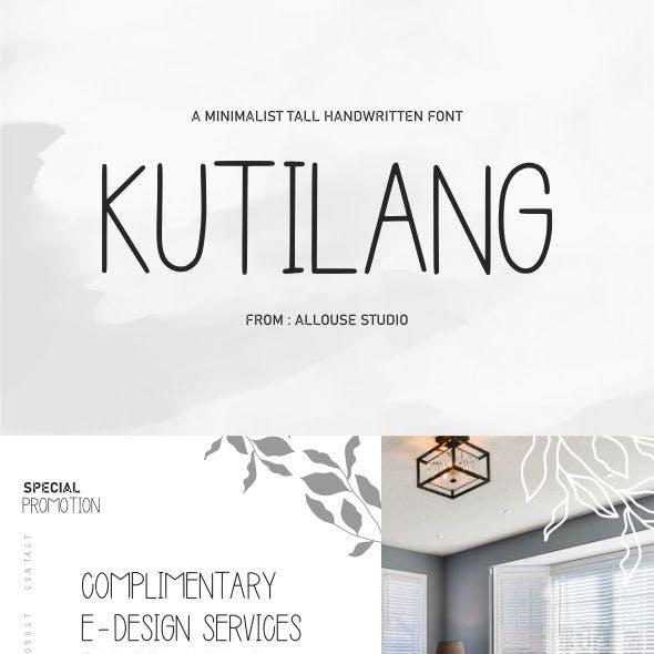 Kutilang | Minimalist Tall Font