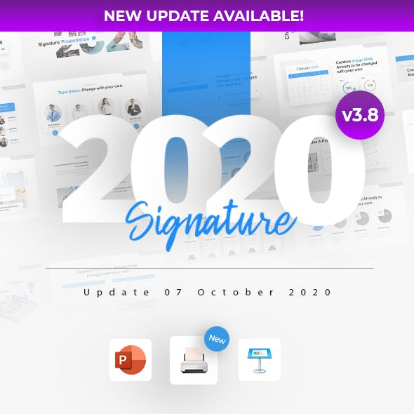 2020 Signature Multipurpose Premium PowerPoint Presentation Template Fully Animated