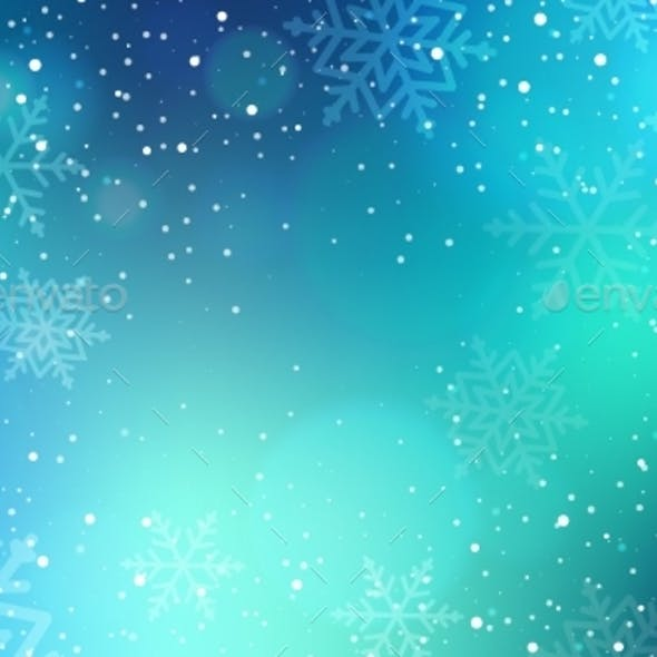 Abstract Winter Background with Falling Snow