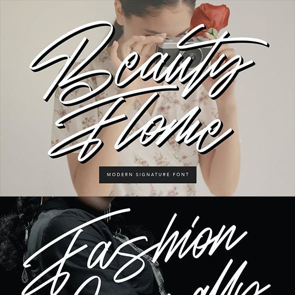 Beauty Flome Signature Modern Font