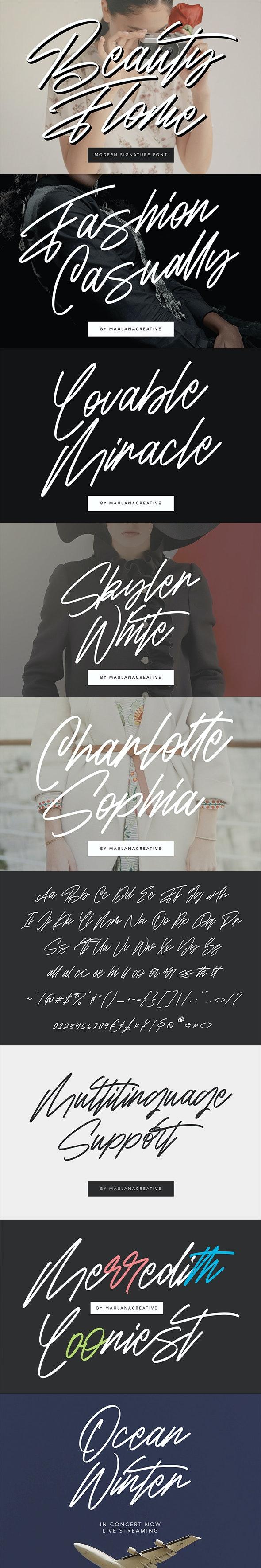 Beauty Flome Signature Modern Font - Script Fonts