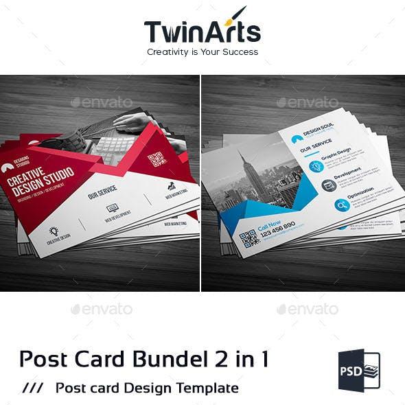 Corporate Post Card Bundle_2 in 1