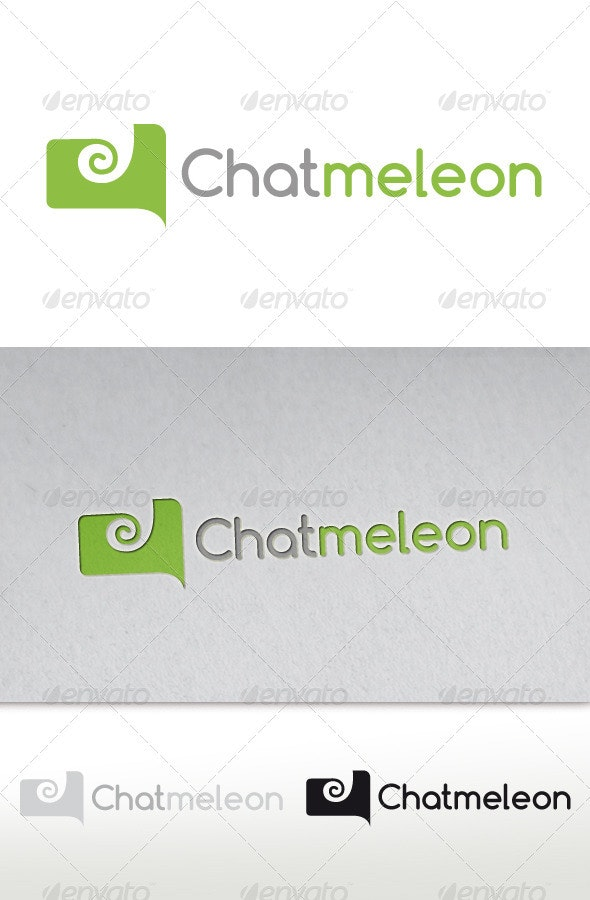 Chameleon Chat Logo (Chatmeleon) - Animals Logo Templates