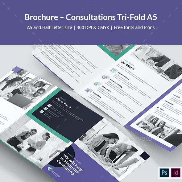 Brochure – Consultations Tri-Fold A5