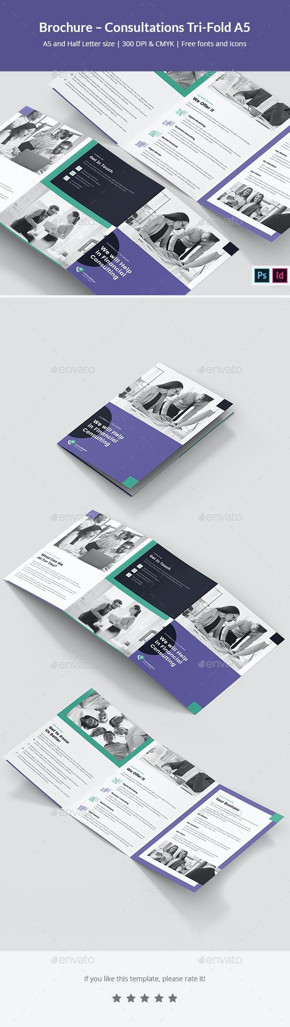 Brochure – Consultations Tri-Fold A5 - Corporate Brochures