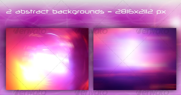 Set of 2 beautiful abstract backgrounds - Backgrounds Graphics