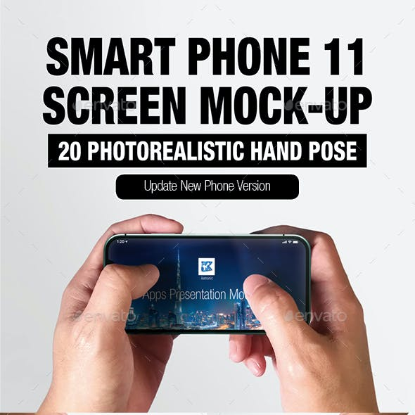 Smart Phone 11 Screen Mock-up