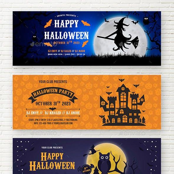 Happy Halloween Web Sliders