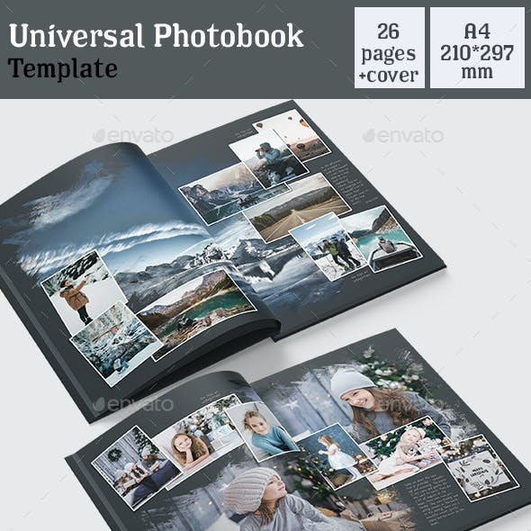 Universal Photobook Template Black A4