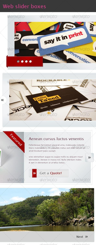 Web slider boxes - Miscellaneous Web Elements