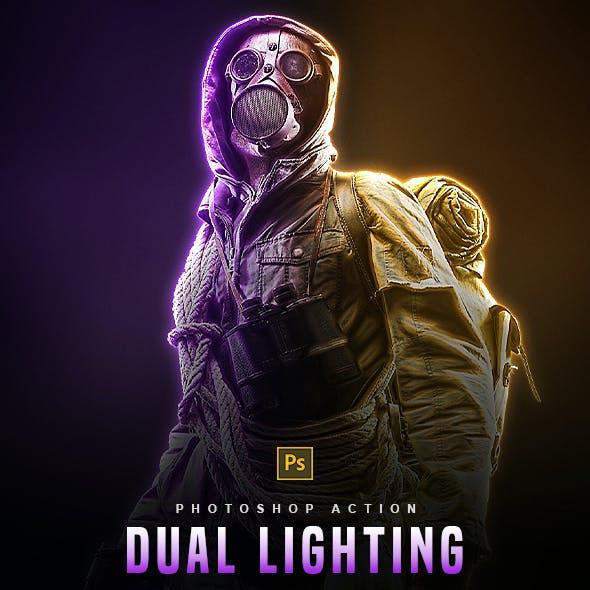 Dual Lighting - Photoshop Action