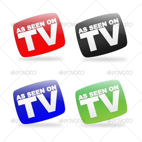 As Seen On TV Icon Set - Decorative Vectors