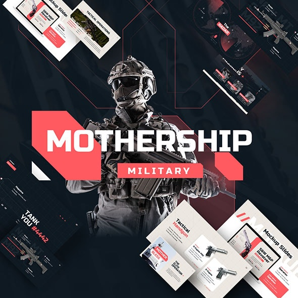 Mothership Military PowerPoint Presentation Template - Abstract PowerPoint Templates