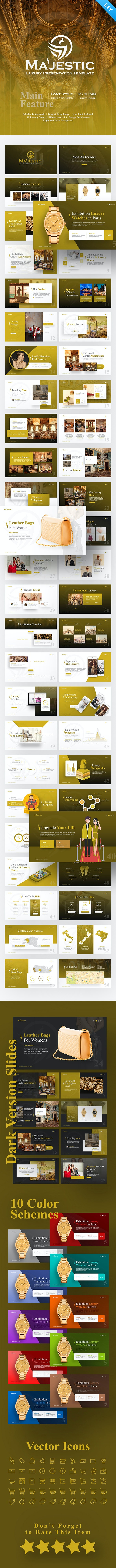 Majestic Luxury Keynote Template - Business Keynote Templates