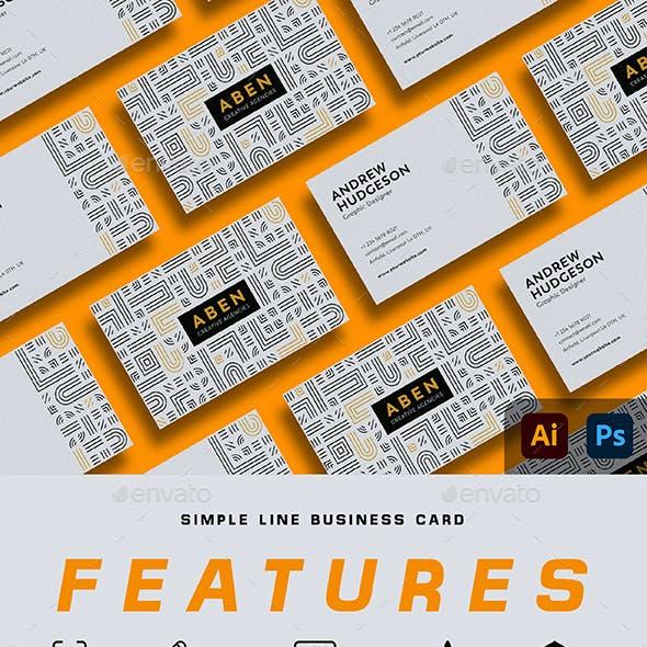 Simple Line Business Card