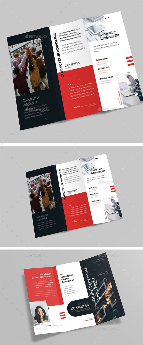 Business Trifold Brochure - Corporate Brochures