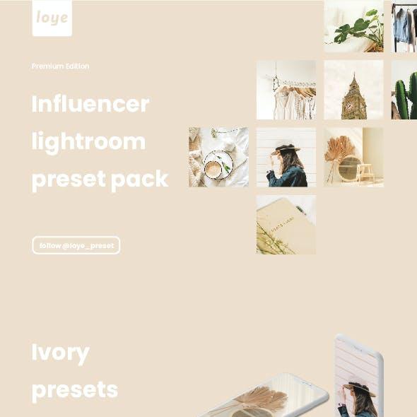 Lightroom Presets - Ivory - by LOYE preset