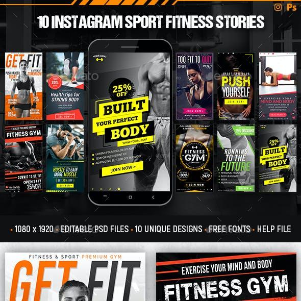 Instagram Sport Fitness Stories