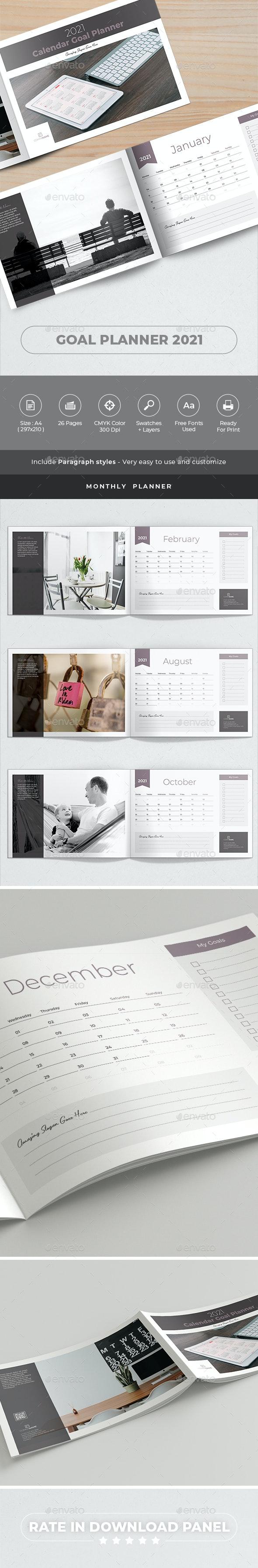 Goal Planner. Calendar 2021 - Calendars Stationery