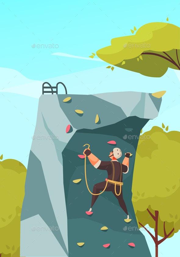 Mountain Climbing Training Composition - Sports/Activity Conceptual